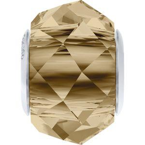 5948 MM 14,0 CRYSTAL GOL.SHADOW STEEL - BeCharmed Briolette Bead