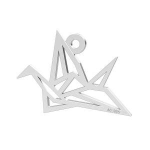 Origami vták privesek, LK-0364 - 0,50