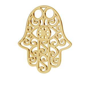 Hamsa ručné prívesok zlato 14K LKZ-00001 - 0,30 mm