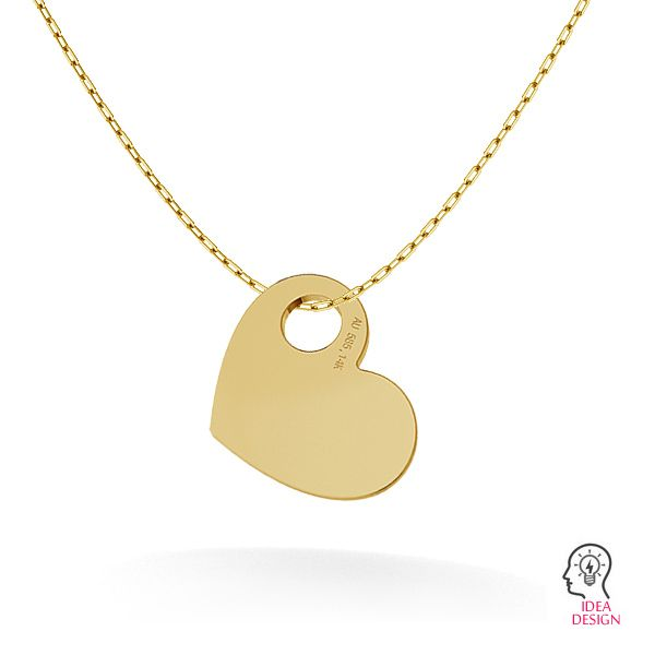 Srdce prívesok zlato 14K LKZ-00014 - 0,30 mm