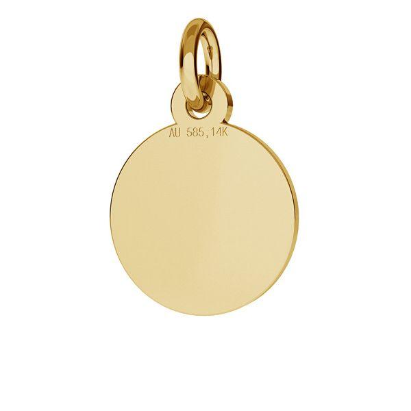 Kolo prívesok zlato 14K LKZ-00021 - 0,30 mm