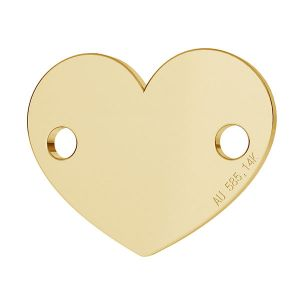 Srdce prívesok zlato 14K LKZ-00462 - 0,30 mm