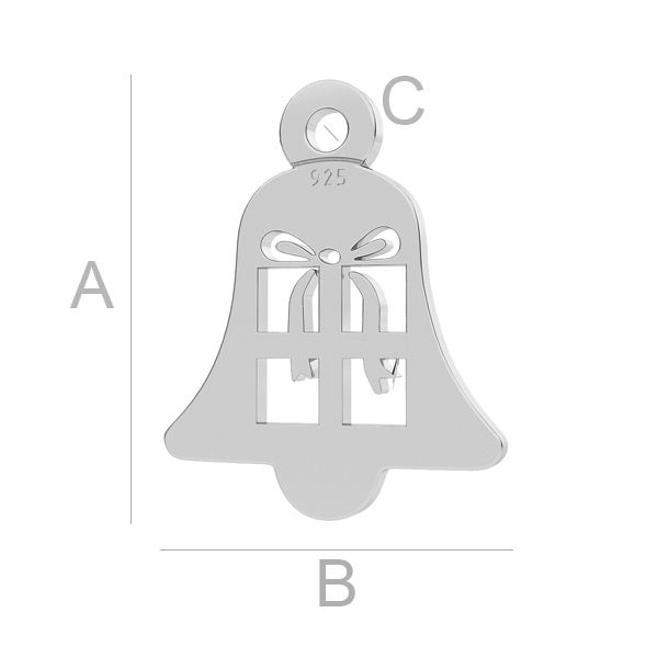 Zvon prívesok LK-1051 - 0,50