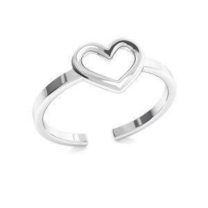 Krúžok srdca, striebro 925, ODL-00317