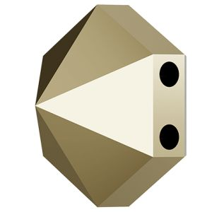 Hexagon Spike Bead, Swarovski Crystals, 5060 MM 7,5 CRYSTAL METALLIC LIGHT GOLD