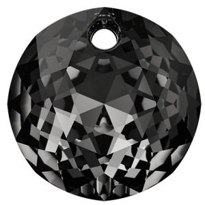 Classic Cut Pendant, Swarovski Crystals, 6430 MM 14,0 CRYSTAL SILVER NIGHT