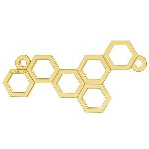 Plást medu privesek, zlato 14K, LKZ-00348 - 0,30