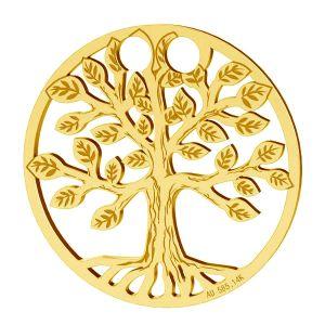 Strom života privesek, zlato 14K, LKZ-01305 - 0,30