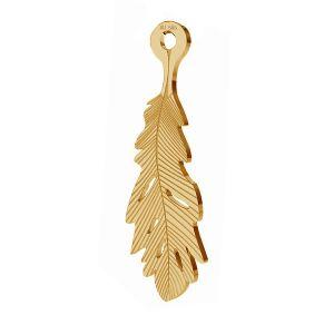 Perie privesek, zlato 14K, LKZ-00391 - 0,30