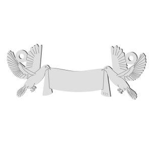 Svadobné holub prívesok, LK-1366 - 0,50