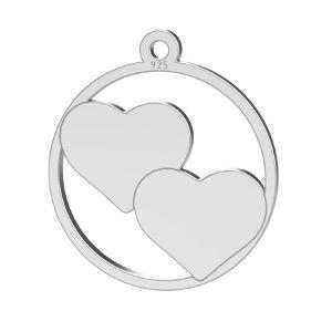 Srdce prívesok, LK-1367 - 0,50