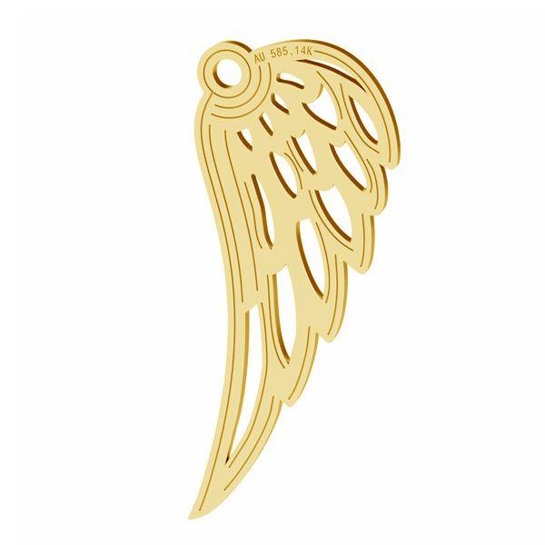 Anjelské krídla privesek, zlato 14K, LKZ-01305 - 0,30
