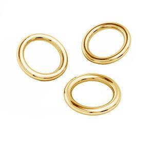 Zlate spojovacie krúžky AU 585 14K, KC-0,80x4,25