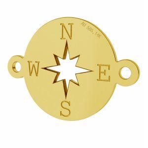 Kompas prívesok, zlato 14K, LKZ-01318 - 0,30