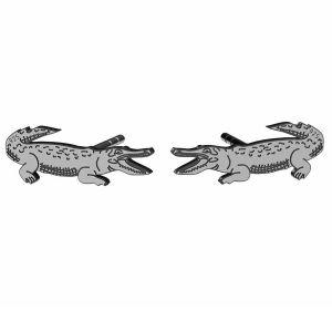Krokodíl náušnice, striebro 925, LK-1388 KLS - 0,50