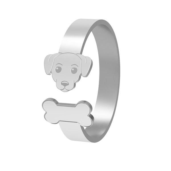 Pes krúžok, striebro 925, LK-1403 - 0,50