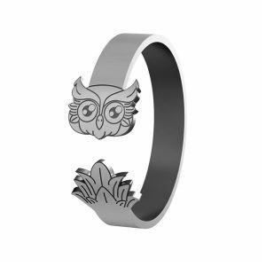 Sova prsteň, striebro 925, LK-1406 - 0,50