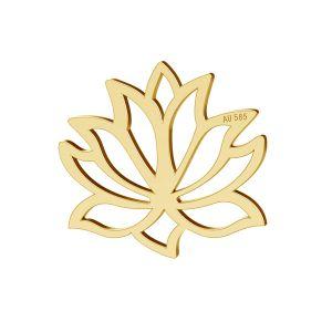 Lotus kvetina prívesok zlato 14K LKZ-00771 - 0,30