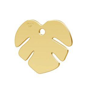 Lotus kvetina prívesok zlato 14K LKZ-00809 - 0,30