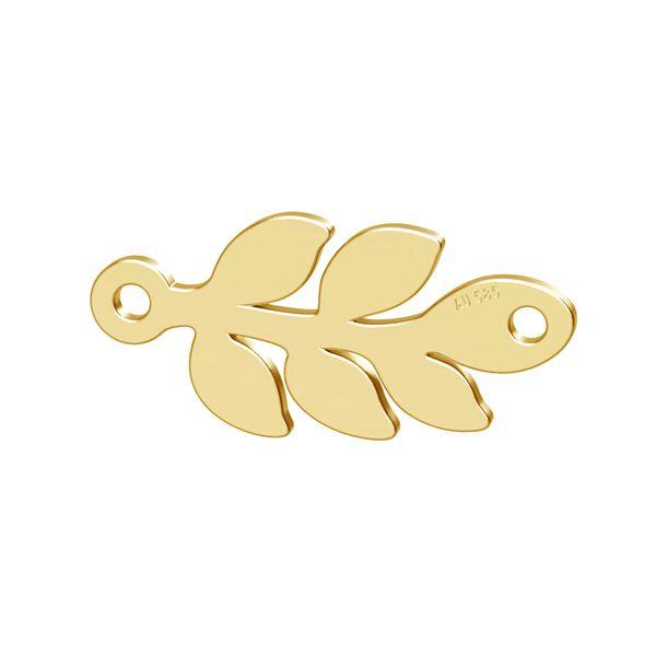 Monstera krídlo prívesok zlato 14K LKZ-00809 - 0,30