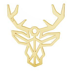 Origami jeleň prívesok striebro, LK-1510 - 0,50