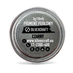 Perlový pigment - čierna, 3 g