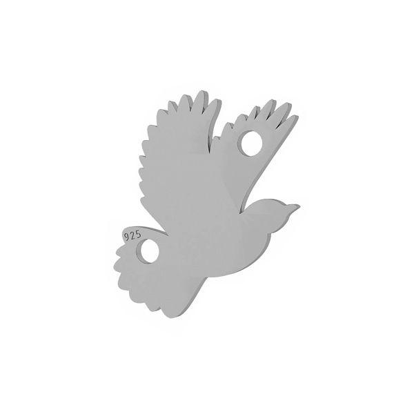 Vták prívesok striebro, LKM-2095 - 0,50