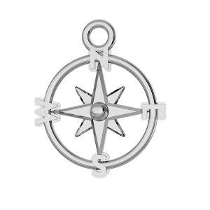 Kompas prívesok striebro 925, ODL-00465
