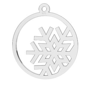 Snehová vločka prívesok striebro, LKM-2257 - 0,50