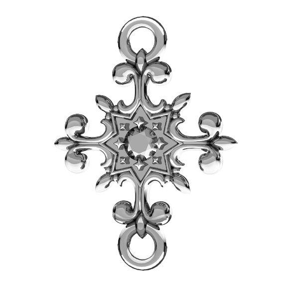 Kríž prívesok, striebro 925, ODL-00600