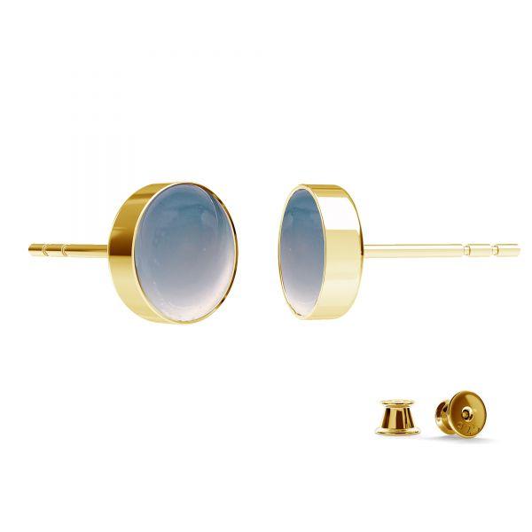 Okrúhle náušnice z živice, striebro 925, FMG ROUND 7 MM KLS - 2,10 MM