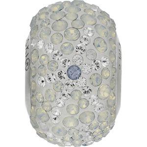 82063 BeCharmed Pavé Snowflake Bead - Crystal, Light Sapphire, White Opal