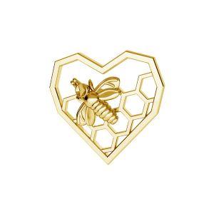Srdce plást medu prívesok*striebro 925*ODL-00671 13,9x15 mm