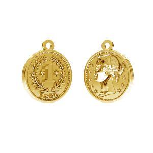 Cínska minca prívesok, striebro 925, ODL-00012