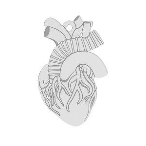 Prívesok - Srdce na gravírovanie  *striebro 925*LKM-2370 - 0,50 14x21,6 mm