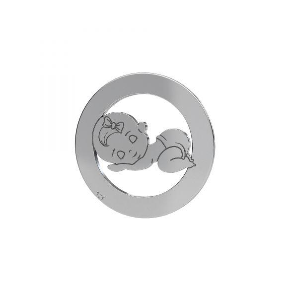 Dievča privesek*striebro 925*LKM-2360 - 0,50 17,5 mm