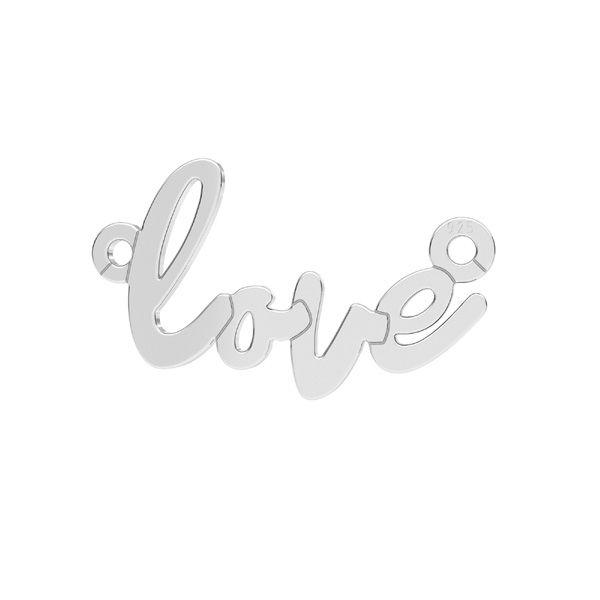 Prívesok - Love - Spojovací element, LKM-2397 - 0,50 10x18,7 mm
