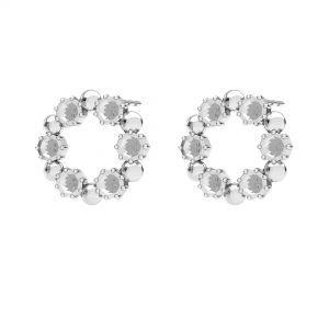 Okrúhly, náušnice, striebro 925, ODL-00704 KLS 14,2 mm (1088 PP 18)