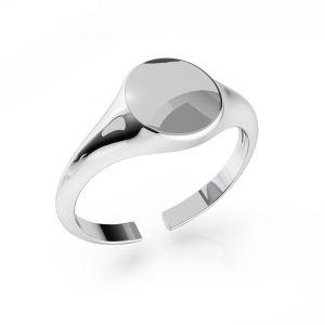 Pečatný prsteň striebro ODL-00735 7,5x19 mm