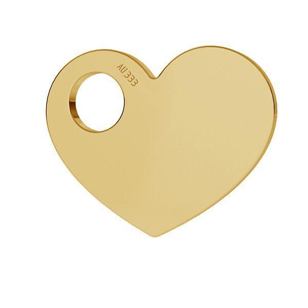 Srdce prívesok zlato 8K LKZ8K-30006 - 0,30 9,4x12 mm