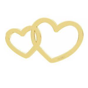 Dvojité srdce prívesok*zlato 333*LKZ8K-30030 - 0,30 6x10,5 mm