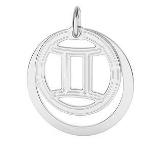 Prívesok - Blíženci zverokruh, striebro 925*LKM-2585 - 0,50 ver.2 18x22 mm