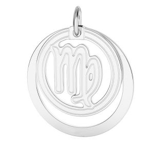 Prívesok - Panna zverokruh, striebro 925*LKM-2590 - 0,50 ver.2 18x22 mm