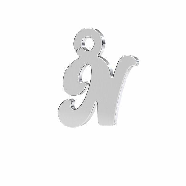 Písmeno R privesek*striebro 925*LK-0076 - 0,50 7x9,5 mm