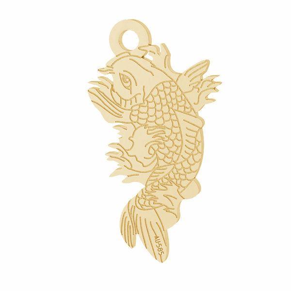 Prívesok - Ryba Koi*zlato 585*LKZ14K-50090 - 0,30 10,6x19,2 mm