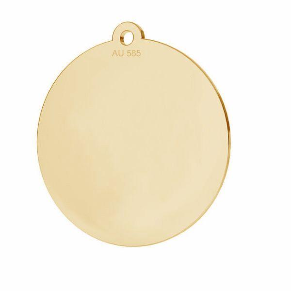 Kolo prívesok*zlato 585*LKZ14K-50088 - 0,30 18x19,5 mm