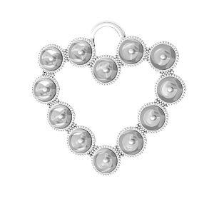 Srdcové prívesok Swarovski pearls, ODL-00789 24x24,5 mm (5818 MM 4)