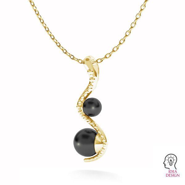 Srdcové prívesok Swarovski pearls, ODL-00774 4x22 mm (5818 MM 4, 5818 MM 6)