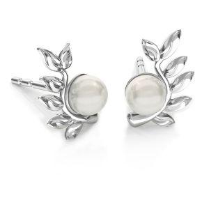 Listy náušnice Swarovski pearls, ODL-00791 L+P 6,7x10,5 mm (5818 MM 4)