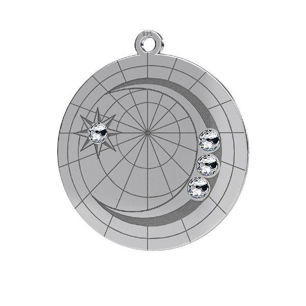 Mesiac prívesok*striebro 925*LKM-2625- 0,50 22x23,5 mm
